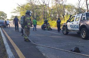 Al lugar llegó personal del Ministerio Público y peritos forenses de accidentología de Criminalística. Foto: Mayra Madrid