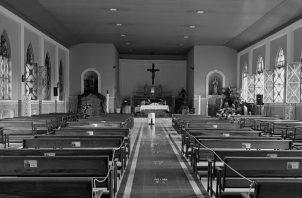 Vitrales de la Iglesia parroquial de San Juan Bautista, marzo 2021. Foto: Cortesía del autor.