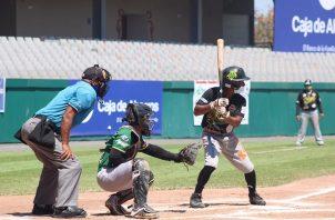 Bocas del Toro castigó ayer con siete imparables a los lanzadores de Panamá Oeste. Foto cortesía Fedebeis