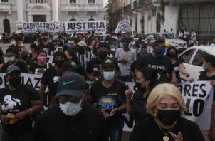 La marcha del nuevo partido político contó con una nutrida concurrencia de simpatizantes de diversas partes de la nación.