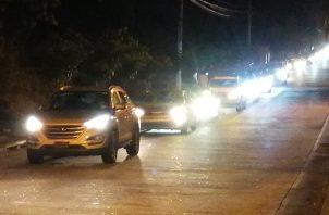 Residentes de varias barriadas realizaron por segunda ocasión, una caravana vehicular. Foto: Eric A. Montenegro
