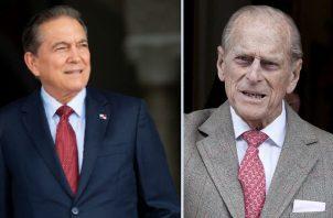 Laurentino Cortizo y el Príncipe Felipe. EFE