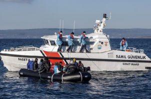 Lesbos sigue siendo el punto más caliente de la migración clandestina a Europa. Foto: EFE