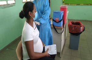 En el distrito de San Miguelito de unas 2,800 embarazadas que hay registradas, solo han acudido un total de 172. Foto: Twitter Minsa.