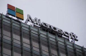 Logo de la compañía Microsoft.