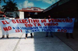 La protesta efectuada fue de manera pacífica. Foto: Melquiades Vásquez