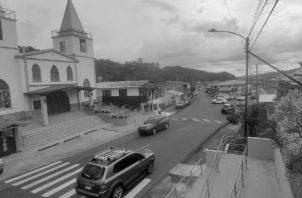 Vista del casco urbano de Boquete, desde la explanada de la Iglesia de San Juan Bautista, marzo 2021. Foto: Cortesía del autor.