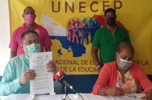 Los docentes aseguran que no están en contra del regreso a las aulas. Foto: Víctor Arosemena