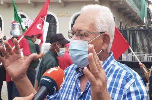 Rafael Chavarría dijo que ellos le han planteado tanto al Gobierno Nacional como a los empresarios buscar alternativas. Foto: Víctor Arosemena.