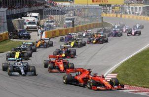Vista del circuit Gilles Villeneuve, el Gran Premio de Fórmula 1 de Montreal, Canadá.