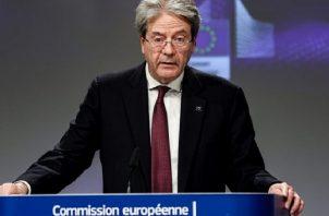 Comisario europeo de Economía, Paolo Gentiloni. EFE