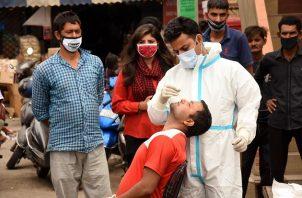 La India es el segundo país más afectado del mundo por la covid-19 en términos absolutos. Foto: EFE
