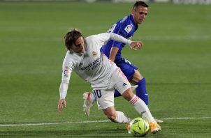 El centrocampista croata del Real Madrid, Luka Modric, será baja ante el Cádiz. Foto: EFE
