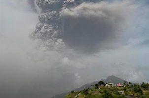 Panorama en San Vicente y Granadinas tras la erupción del volcán La Soufriere. EFE