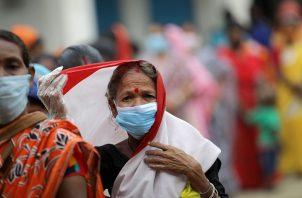 La India acumula 15.9 millones de personas contagiadas de coronavirus. Foto: EFE