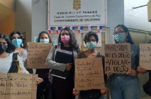Tres personas fueron detenidas en protesta por fallos de la Corte a favor de Arquesio Arias. Foto: Víctor Arosemena