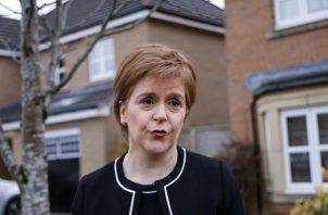 La ministra principal del Gobierno de Escocia y líder del independentista Partido Nacional Escocés (SNP), Nicola Sturgeon.