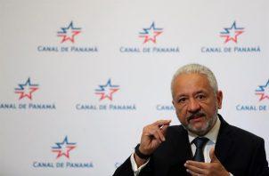 En la imagen, el administrador de la Autoridad del Canal de Panamá (ACP), Ricaurte Vásquez.