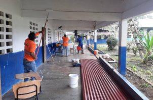 El Meduca trabaja en la adecuación de las escuelas. Foto: Cortesía Meduca