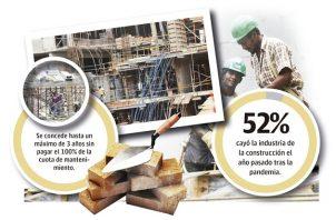 El cierre de la industria de la construcción por cinco meses en el 2020 generó pérdidas diarias que ascendieron aproximadamente a los 30 millones de dólares, aseguran sus miembros.