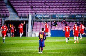 El Barcelona ya no dependen de sí mismos y tendrán que volver a remar para lograr el título de liga. Foto: Twitter
