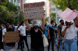 Las protestas que se hicieron por el caso de los albergues poco a poco fueron bajando en los últimos meses. Archivo.
