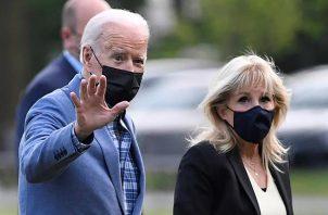 En la imagen, el presidente de EE.UU., Joe Biden, y la primera dama, Jill Biden. Foto: EFE