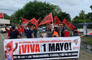 Los sindicatos de Panamá marcharon este 1 de mayo, Día del Trabajador. Foto: Cortesía @frenadeso