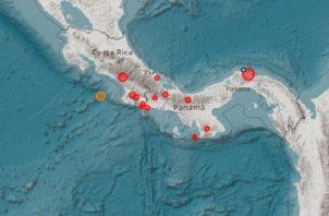 Reporte del Instituto de Geociencias de la Universidad de Panamá.