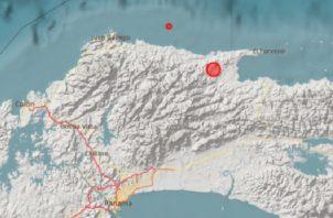 Epicentro del sismo panameño, que fue el primero en darse. Foto: Cortesía IGC