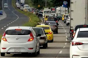 Inversión de carriles hasta las 6:00 p.m. en la vía Panamericana. Foto: Cortesía