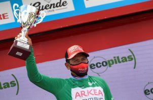 El ciclista colombiano del equipo Arkea, Nairo Quintana.