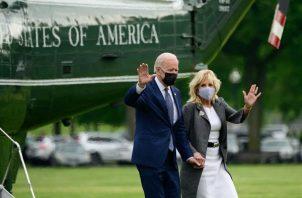 El presidente de Estados Unidos, Joe Biden, y la primera dama Jill Biden. EFE