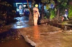 Sinaproc informó que 196 personas resultaron afectadas por las lluvias en la ciudad de David durante las últimas horas. Foto: Mayra Madrid