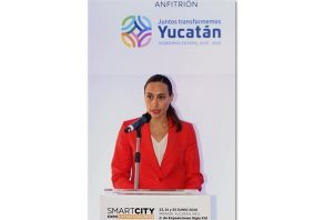 Imagen de archivo de la directora general de Fira Barcelona México, Pilar Martínez, durante una rueda de prensa en Ciudad de México (México).