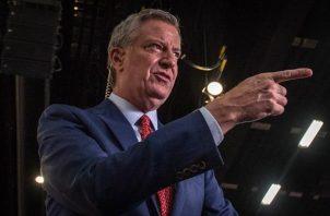 En la imagen, el alcalde de Nueva York, Bill De Blasio.