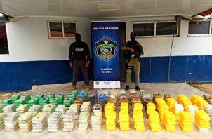 En este año han sido decomisadas 19 toneladas de droga en Colón. Foto: Diomedes Sánchez