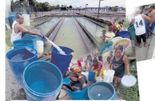 Hay sectores que el agua llega en la madrugada y otros donde demora varios días en llegar. Archivo