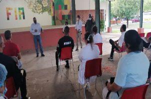 Se realizó un recorrido por las instalaciones de la Feria Internacional de Azuero para determinar la distribución de las áreas de vacunación. Foto: Thays Domínguez