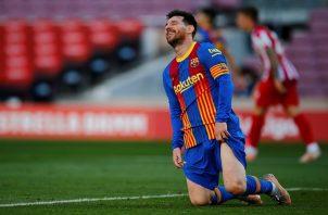 Leo Messi no pudo evitar el empate del conjunto culé. Foto: EFE