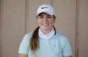 Valeria Patiño analiza su futuro como golfista profesional. Foto: Cortesía Valeria Patiño
