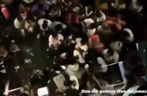 Captura del video de la fiesta que circula en redes sociales.