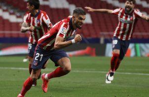 Yannick Carrasco (21) marcó el primer gol del Atlético de Madrid. Foto: EFE