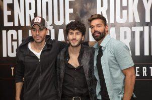 Enrique Iglesias, Sebastián Yatra y Ricky Martin. Foto: Instagram / @enriqueiglesias