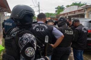 Los operativos de la Policía Nacional se desarrollan en distintos lugares de Panamá. Foto: Cortesía PN