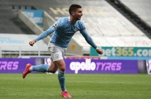 Ferrán Torres marcó en tres ocasiones en la victoria del Manchester City. Foto: EFE