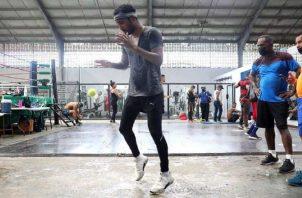 """El boxeador Anselmo """"Chemito"""" Moreno durante un entrenamiento. Foto: Cortesía"""