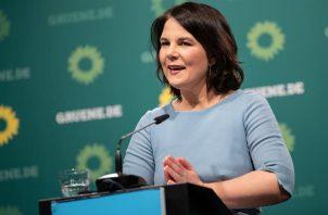 La candidata de los Verdes a la Cancillería alemana, Annalena Baerbock.