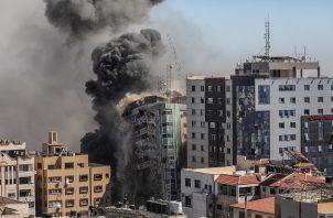Los enfrentamientos entre las milicias palestinas de Gaza e Israel entran hoy en su noveno día, sin progresos para alcanzar una tregua. Foto: EFE