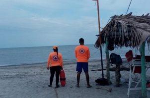 Sinaproc pidió a la población no realizar actividades recreativas en el mar. Foto: Cortesía Sinaproc
